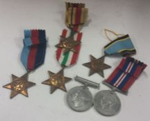A collection of dress medals. Including the Air crew Europe star. Uninscribed. Est. £3