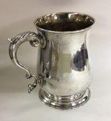 A large Georgian baluster shaped pint mug on sprea