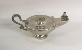 An unusual silver Aladdin's lamp table lighter. Ch
