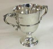 DUBLIN: A heavy Georgian silver trophy cup of typi