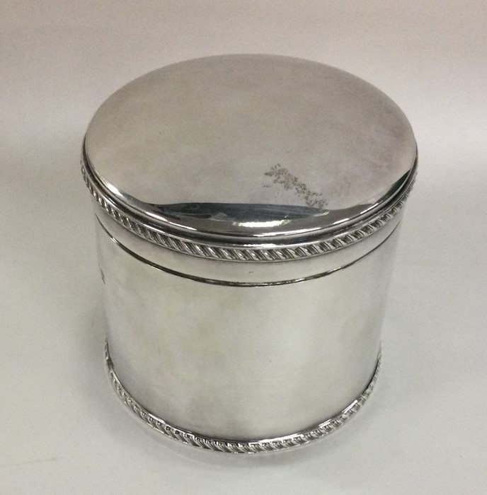 A good quality cast silver hinged top biscuit box - Image 2 of 3