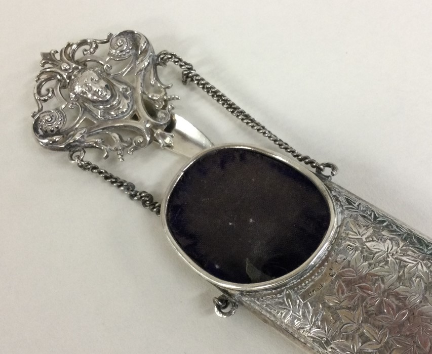 A silver spectacle case with engraved decoration. - Image 2 of 2