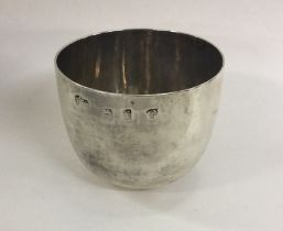 A good heavy George II silver tumbler cup of plain