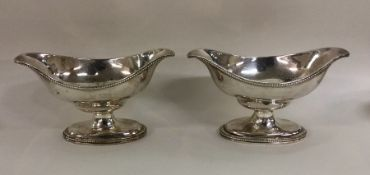 A pair of Adams' style shaped silver salts with be