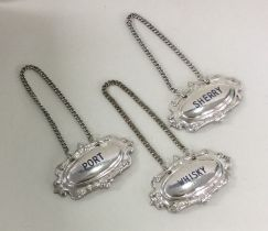 A good set of silver plated wine labels. Est. £20