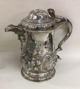 A good quality Georgian chased silver lidded tanka