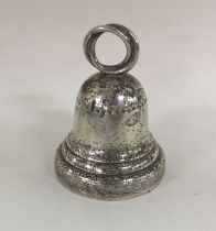 A Continental silver tapering bell of typical form