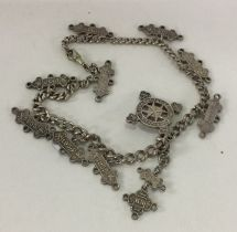 A heavy silver chain mounted with 'Order of St. Jo