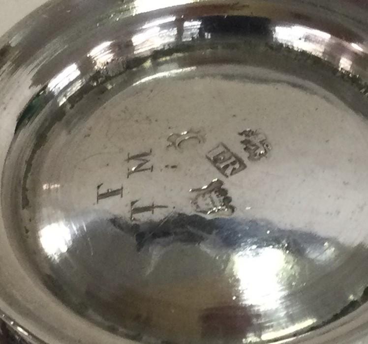 A good Georgian silver half pint mug on spreading - Image 2 of 2
