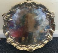 A good Victorian style silver salver with pie crus
