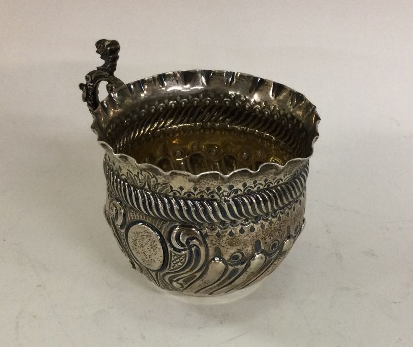 An attractive Victorian silver cream jug of fluted - Image 2 of 2