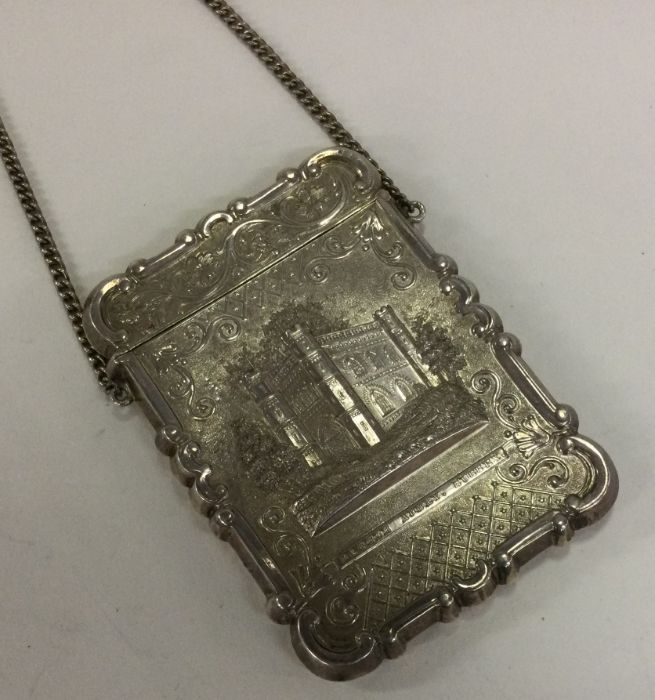 A 19th Century American silver castle top card cas - Image 2 of 2