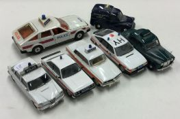 CORGI: A toy Rover 3500 police car together with s