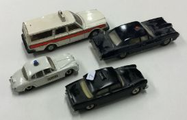 DINKY: A toy Humberhawk Police car together with t