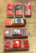 A MATCHBOX diecast toy 'Fire Department' car toget