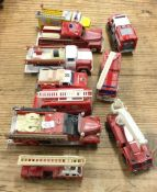 A selection of CORGI diecast and other toy fire en