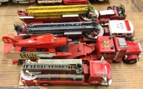 CORGI: An American toy Fire Rig together with thre