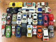 A selection of MATCHBOX and other toy cars.