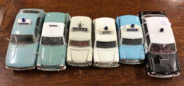 VANGUARDS: A toy Austin Allegro police car togethe