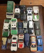 CORGI: A toy Porsche police car together with seve