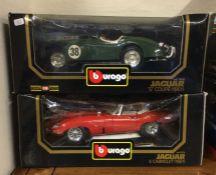 A boxed Bburago diecast model Jaguar E Cabriolet (