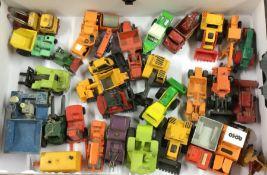 A box containing diecast toy CORGI and MATCHBOX wo