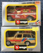 Bburago: Two boxed diecast toy vehicles comprising