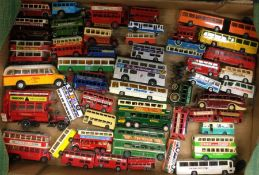 CORGI: A diecast toy double decker bus together wi