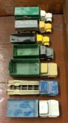 CORGI: A toy Dodge flatbed lorry together with six