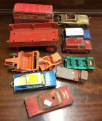 CORGI: A diecast toy bus together with other dieca