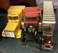 Three scratch-built American toy rigs. (3)