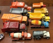 MATCHBOX: A toy Superkings Dust Truck together wit