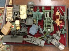 CORGI: A diecast toy tank together with other Mili