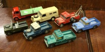 CORGI: A diecast toy Land Rover together with vari