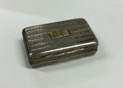 A fine quality silver and silver gilt snuff box. B