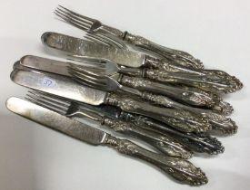 A good set of six (plus six) stylish silver handle