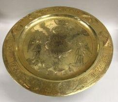 A rare Russian silver gilt tazza attractively deco