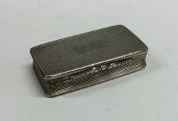 A Georgian silver snuff box of reeded form to gilt