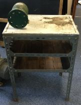 A heavy duty Workshop Table fitted with Master motor. Est. £30 - £50.