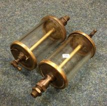 A pair of Forsym Large Drip Feed Oil Lubricators. Est. £60 - £80.