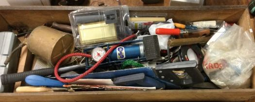 A tray containing assorted tools comprising a Clarke impact driver,