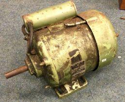 A Gryphon Brook Motors Limited Single Phase C.18118 230v Motor. Est. £30 - £40.
