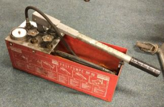A Rothenberger RP 50 Water Hand Test Pressure Pump. Est. £30 - £50.