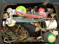 A box containing various electrical components and fittings to include
