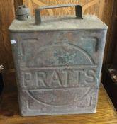 A vintage Pratt's fuel can. Est. £10 - £20.