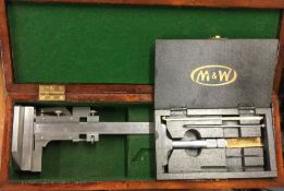 A Chesterman No 368 Height Gauge together with a Moore and Wright Depth Gauge. Est. £20 - £30.