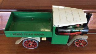 A Mamod Steam lorry in green. Est. £80 - £100.