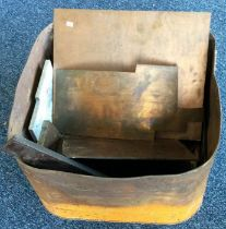A Robbican fuel can containing various copper material. Est. £20 - £30.