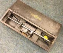 A boxed Moore and Wright Sheffield Surface Scribing gauge together with a