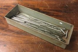 A tray of assorted Silver Steel. Est. £5 - £10.